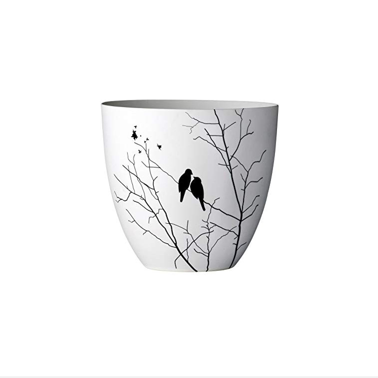 Bloomingville Ceramic Votive Holder with Bird Image