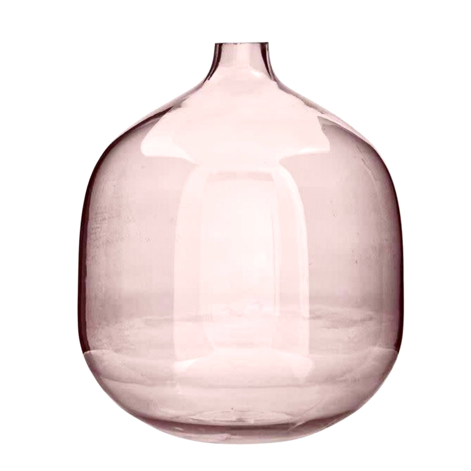 Bloomingville Round Pink Glass Vase