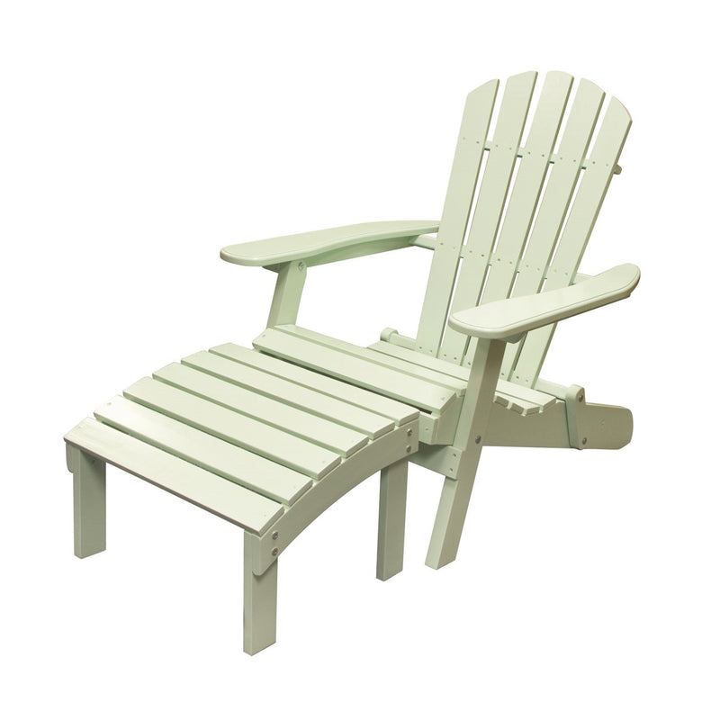 Pale Green Muskoka Chair and Stool