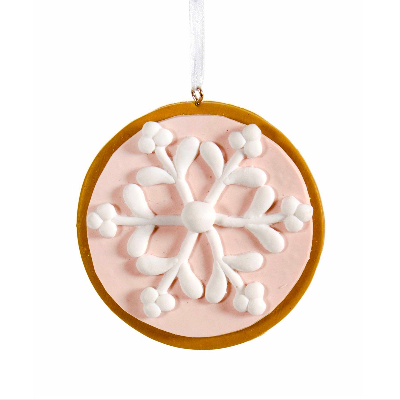 Snowflake Pink Cookie Ornament | Putti Fine Furnishings