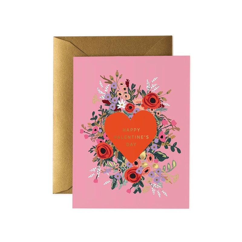Rifle Paper Co. Blooming Heart Valentine Card | Putti Celebrations