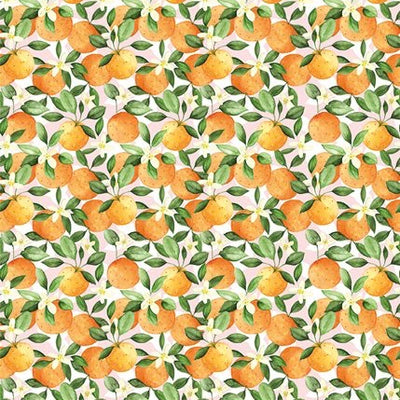 """Clementine Oranges"" Christmas Wrapping Paper Roll"