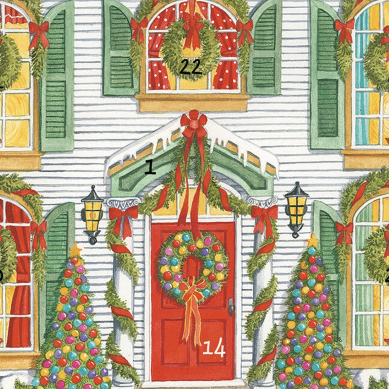"Caspari ""Home for Christmas"" Dolls House Advent Calendar 