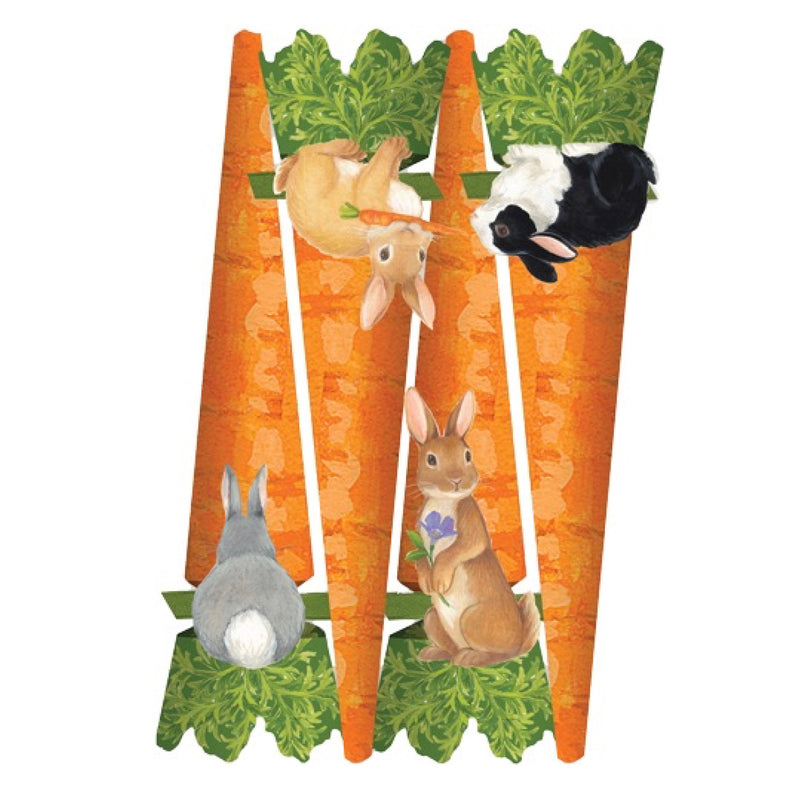 Caspari Bunny and Carrots Cone Crackers | Putti Canada