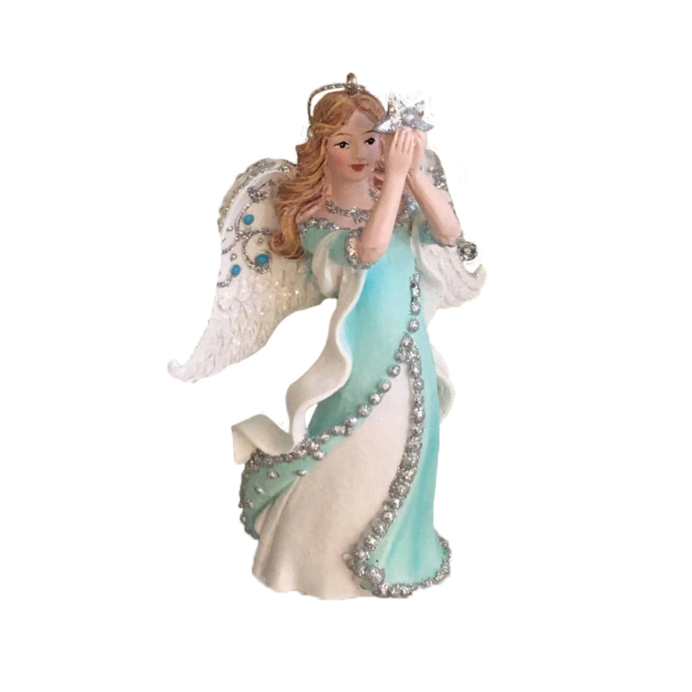 Kurt Adler Tiffany Blue Angel Ornament | Putti Christmas Canada