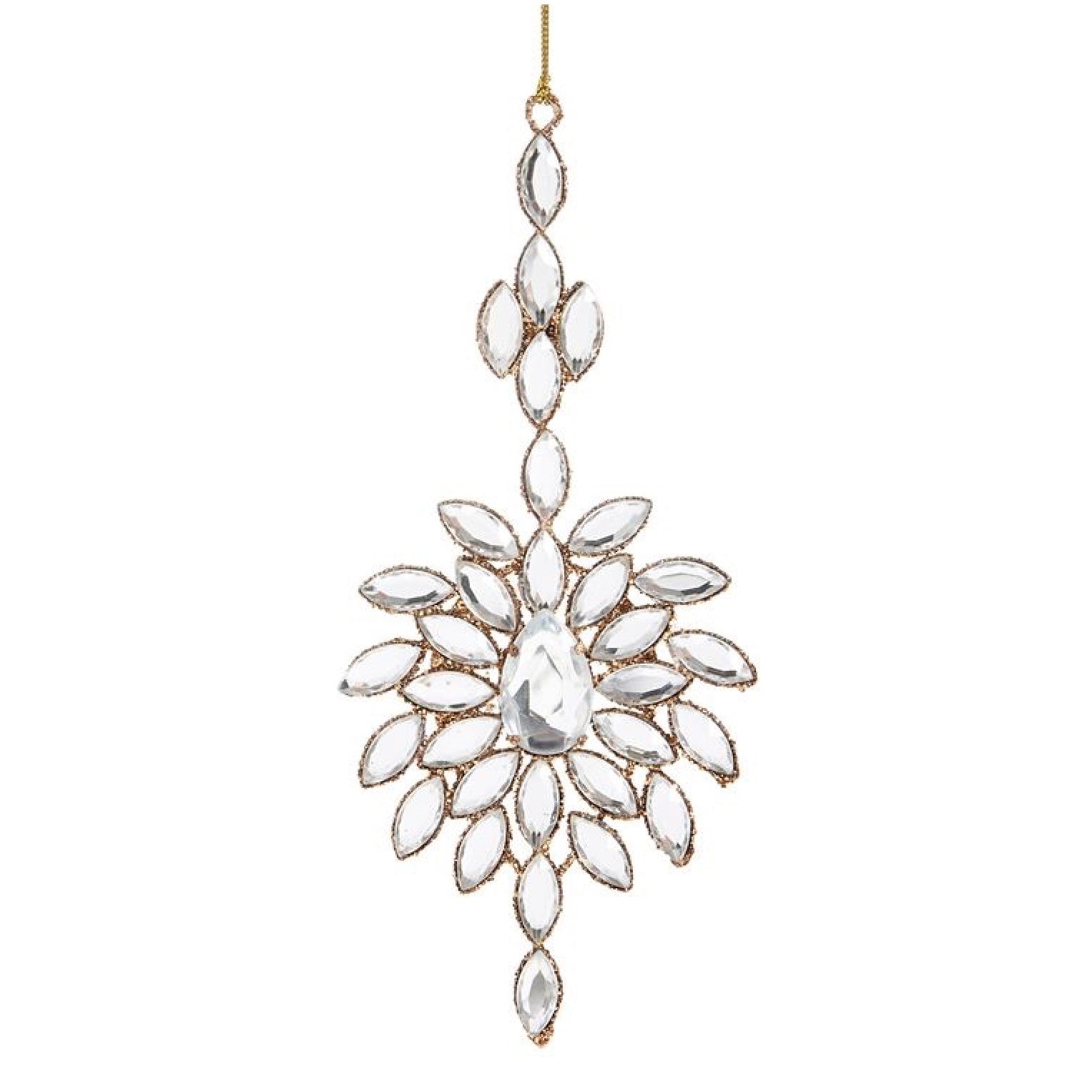 Jewelled Snowflake Christmas Ornament | Putti Christmas Celebrations