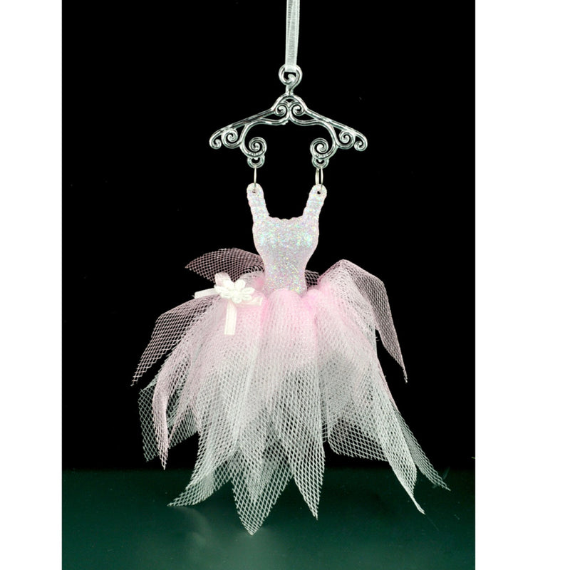 Pink Tule Ballerina Dress Christmas Ornament | Putti Christmas Canada