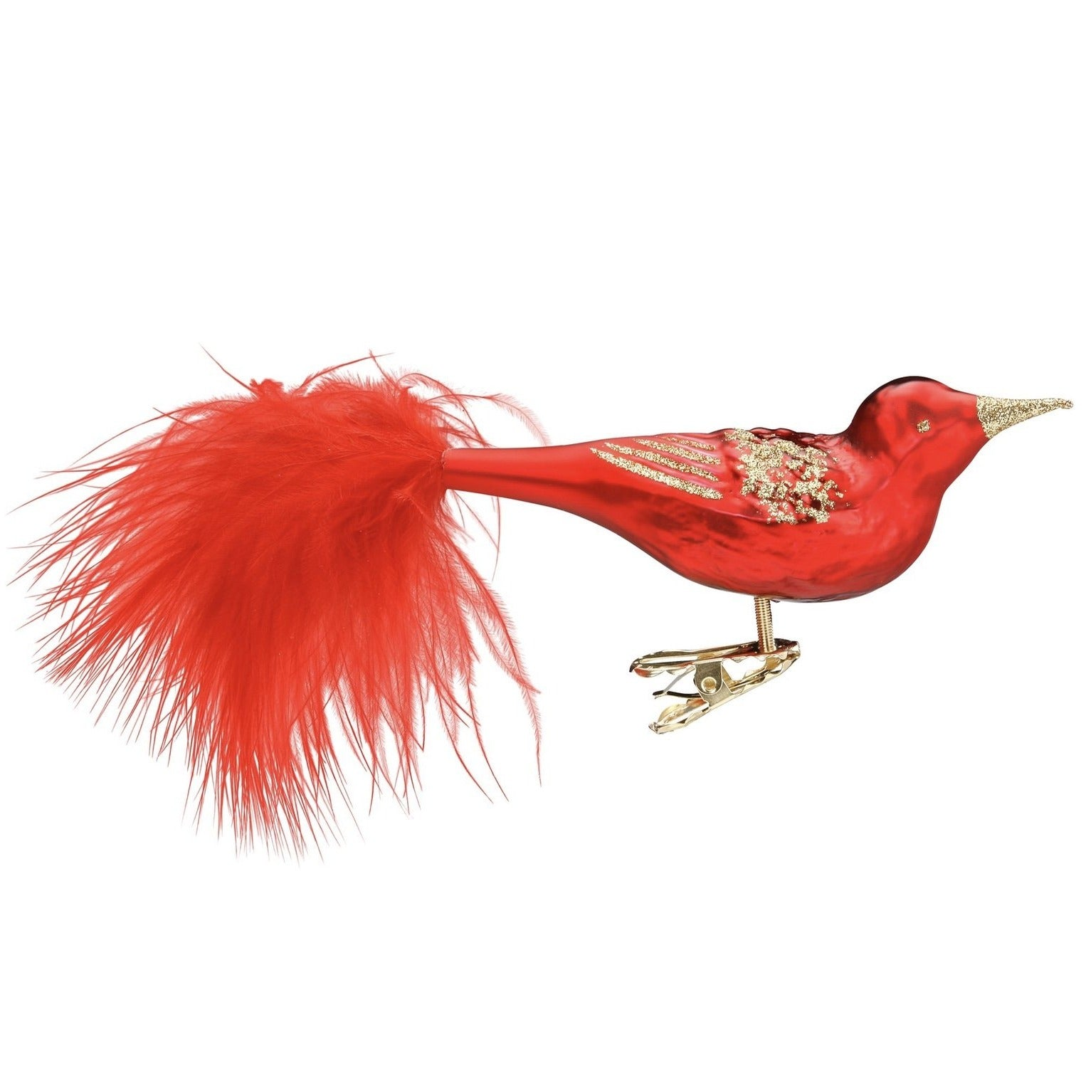 "Inge Glass ""Red Beauty"" Handblown Glass Bird 