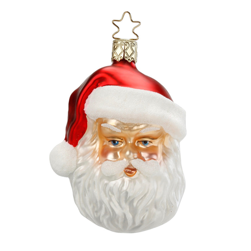 Inge Glass Merry Man Santa Ornament | Putti Christmas Canada
