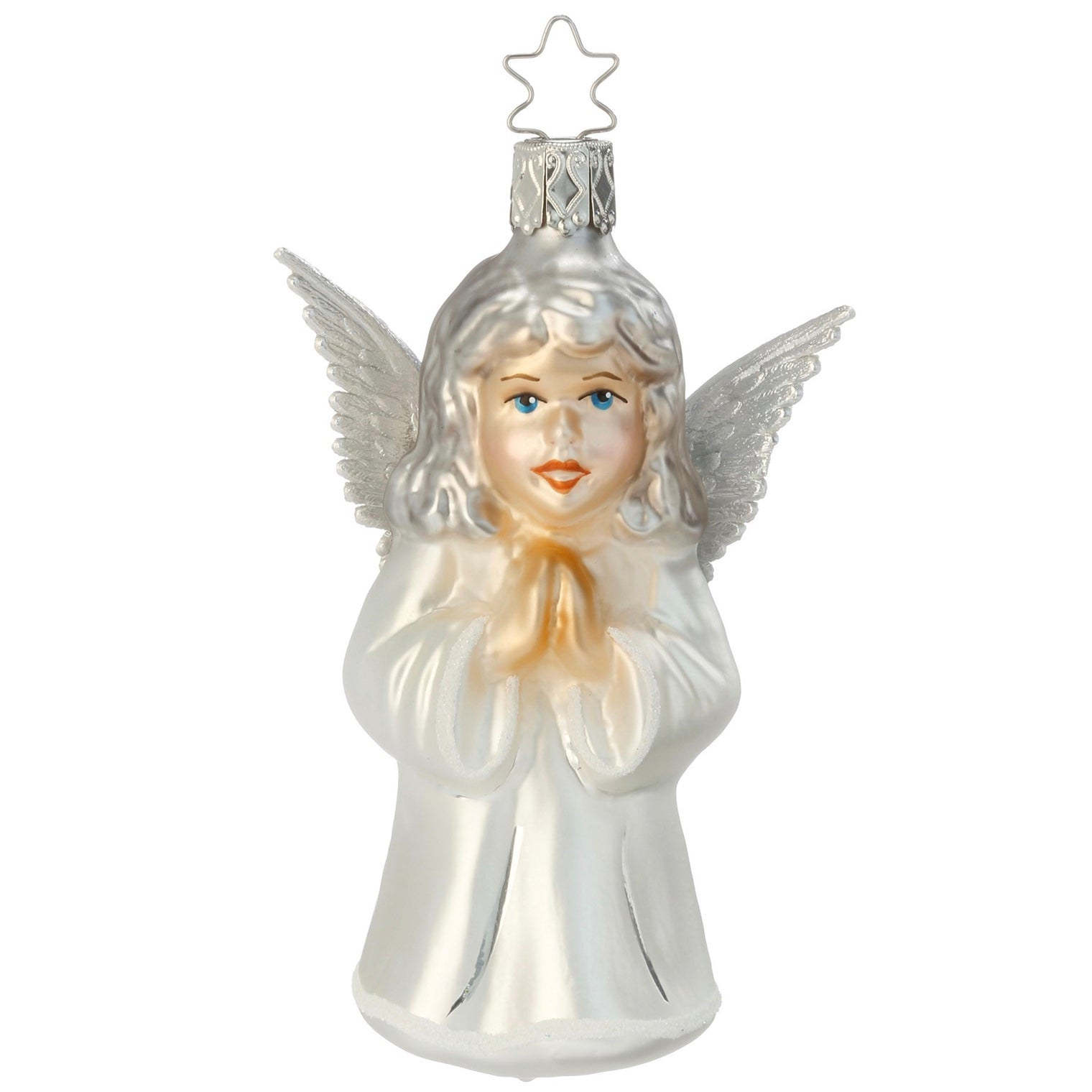 Inge Glass Faithful One Angel Glass Ornament | Putti Christmas Canada