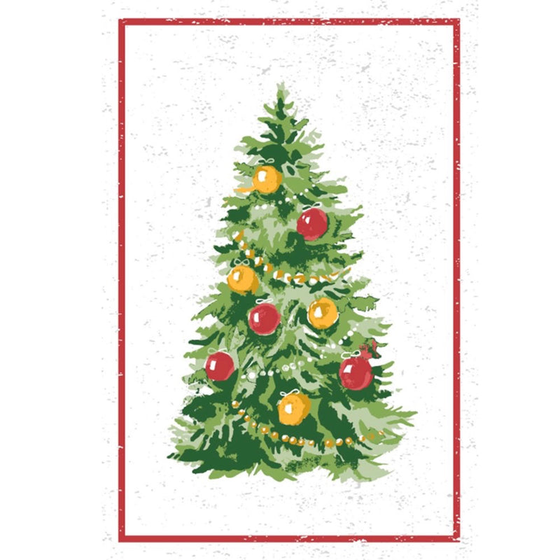 Christmas Tree Flour Sack Kitchen Towel - Set of 2