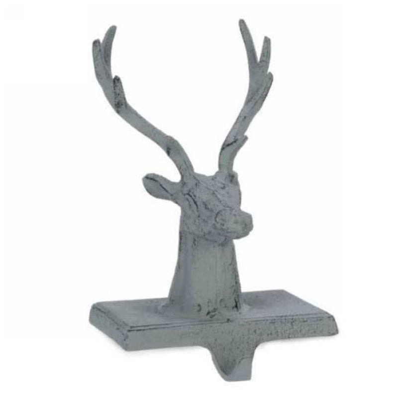 Green Cast Iron Deer Stocking Holder