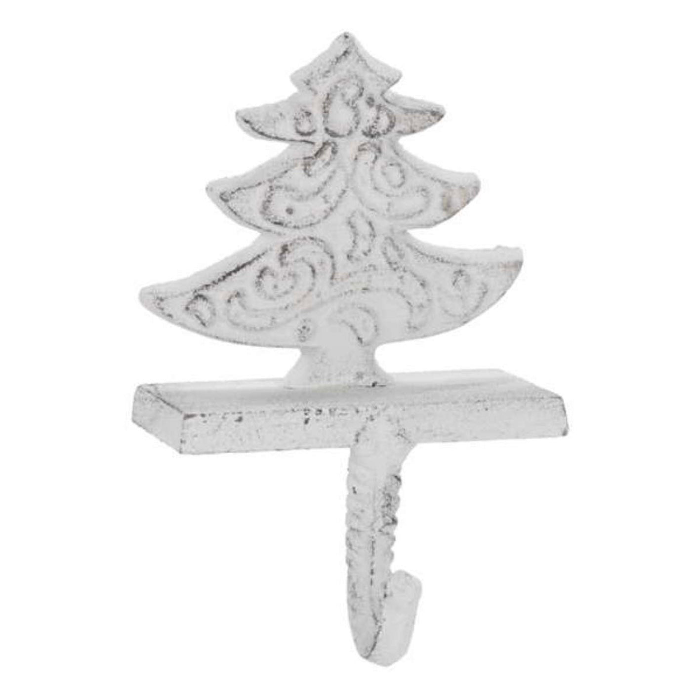 White Cast Iron Tree Stocking Holder