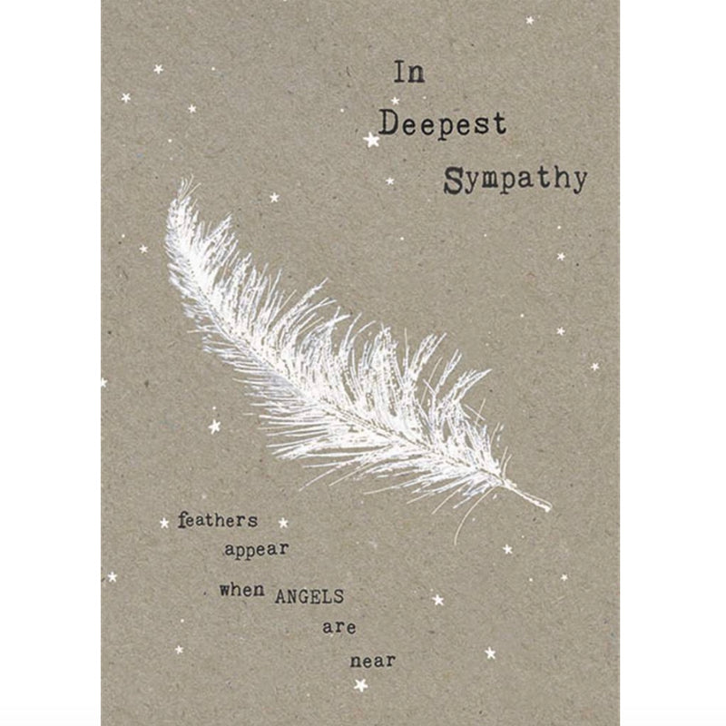 "Hammond Gower ""In Deepest Sympathy"" Feather Greeting Card 