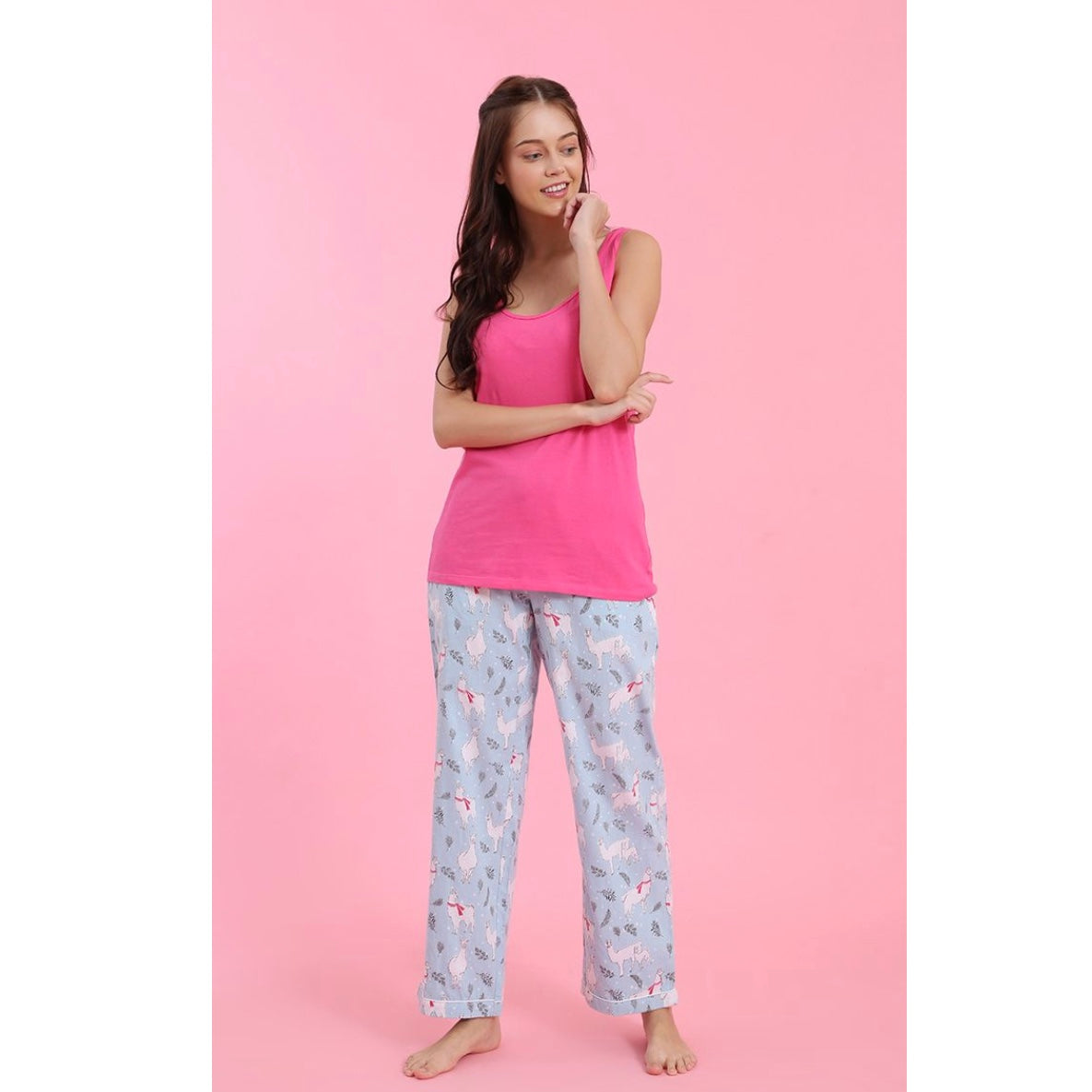 "Mahogany ""Llama"" Flannel Pyjama Pant in Bag 