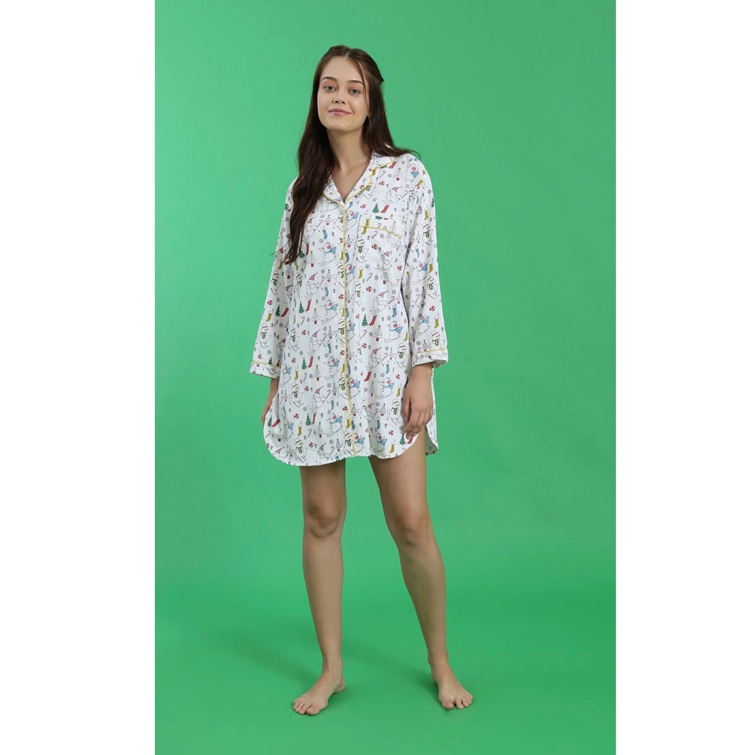 "Mahogany ""Christmas Morning"" Flannel Nightshirt 