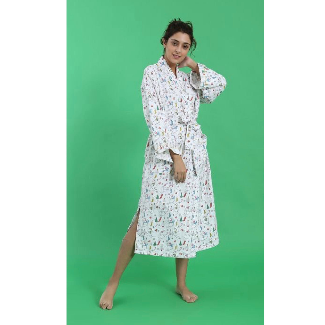 "Mahogany ""Christmas Morning"" Flannel Robe 