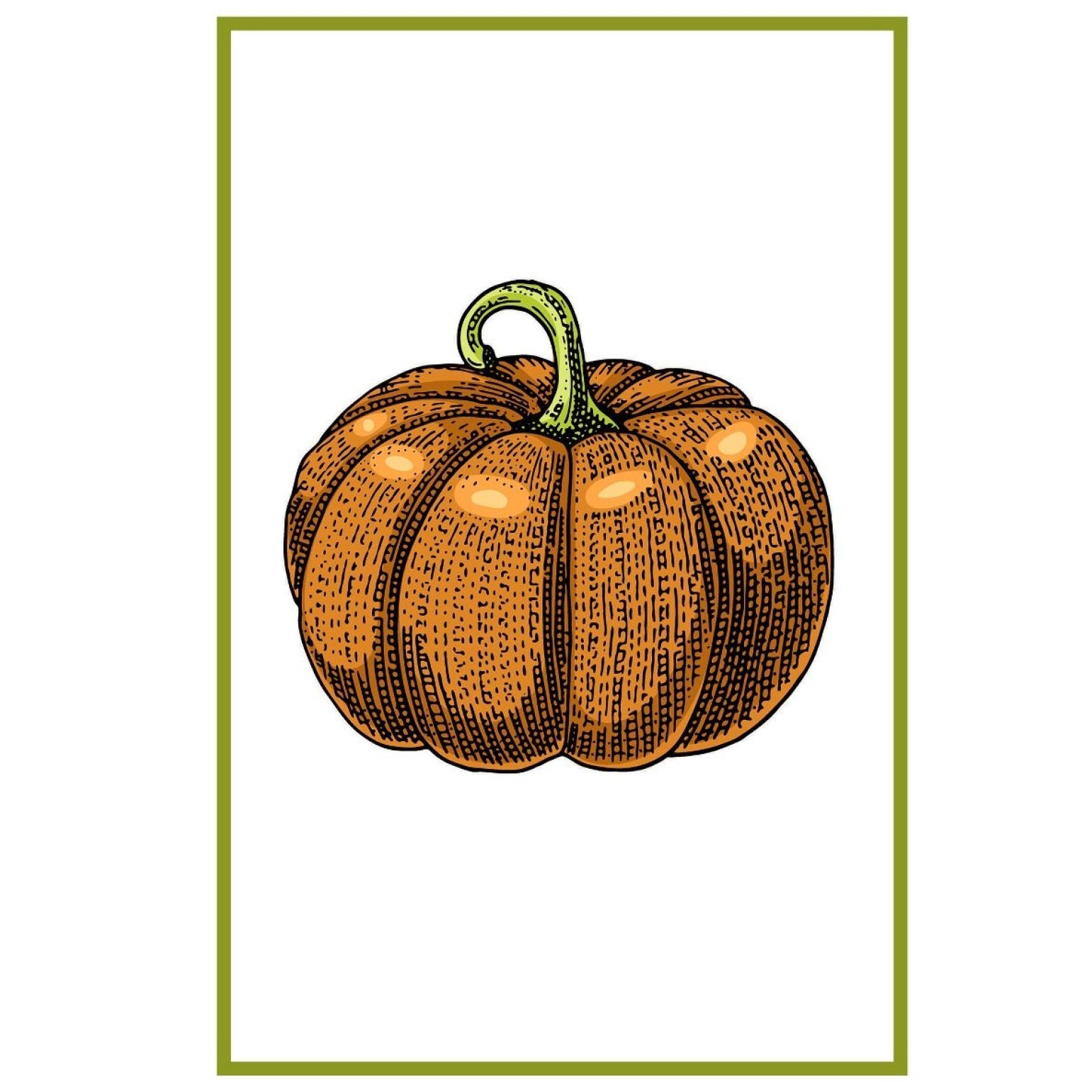 "Mahogany ""Pumpkin"" Flour Sack Kitchen Towel - Set of 2 