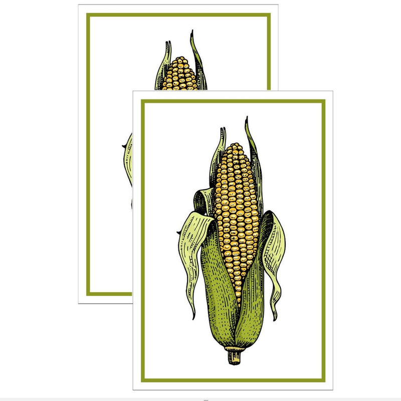 """Corn"" Flour Sack Kitchen Towel - Set of 2"