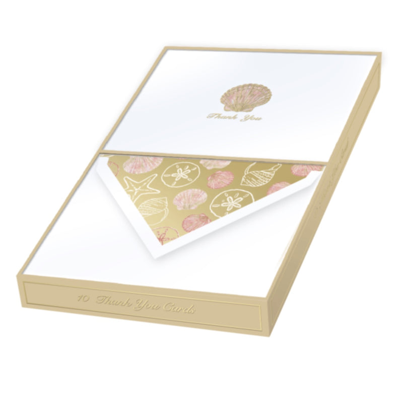Punch Studio Shell Thank You Cards | Putti Fine Furnishings Canada