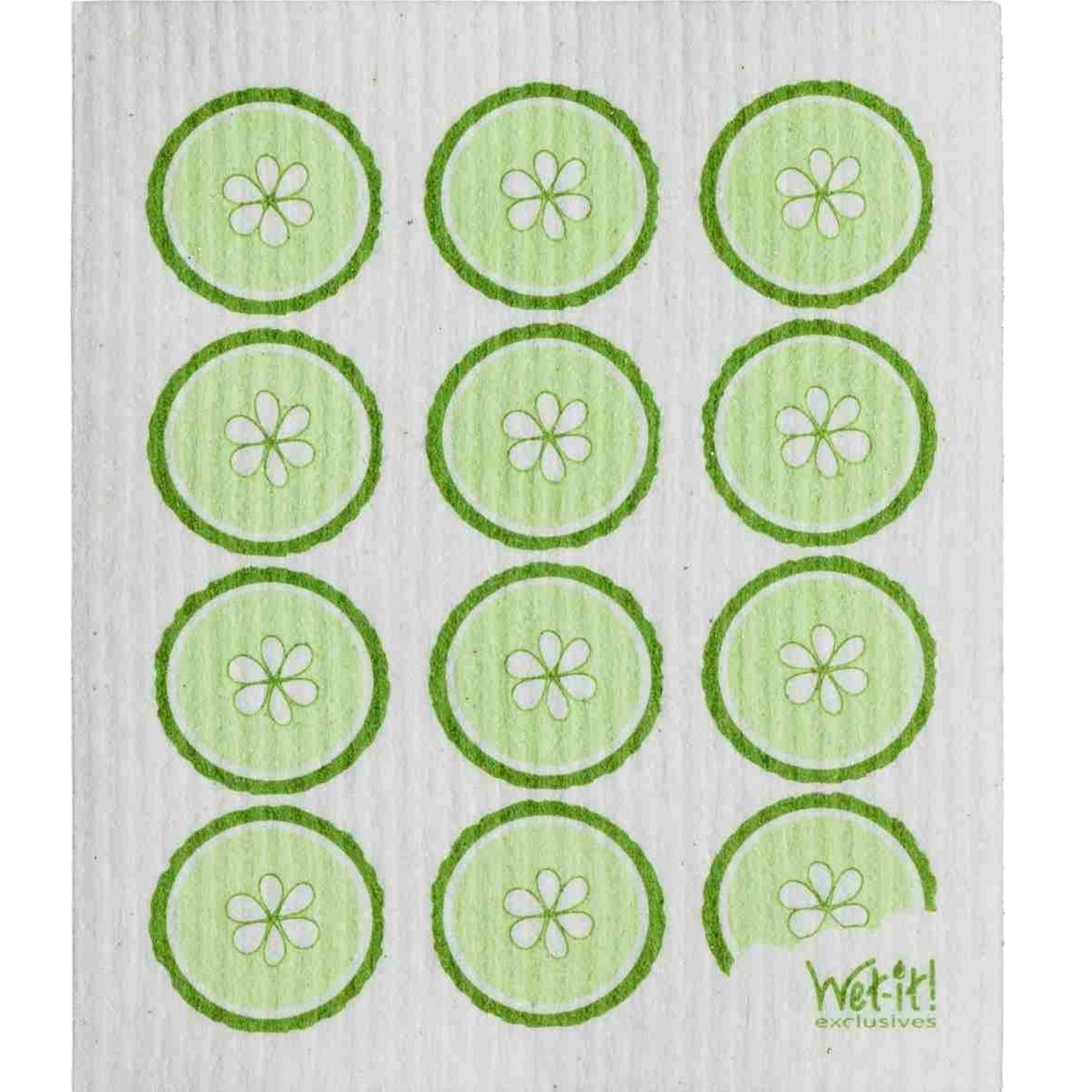Wet it! Cucumber Slices Swedish Cloth | Putti Fine Furnishings Canada