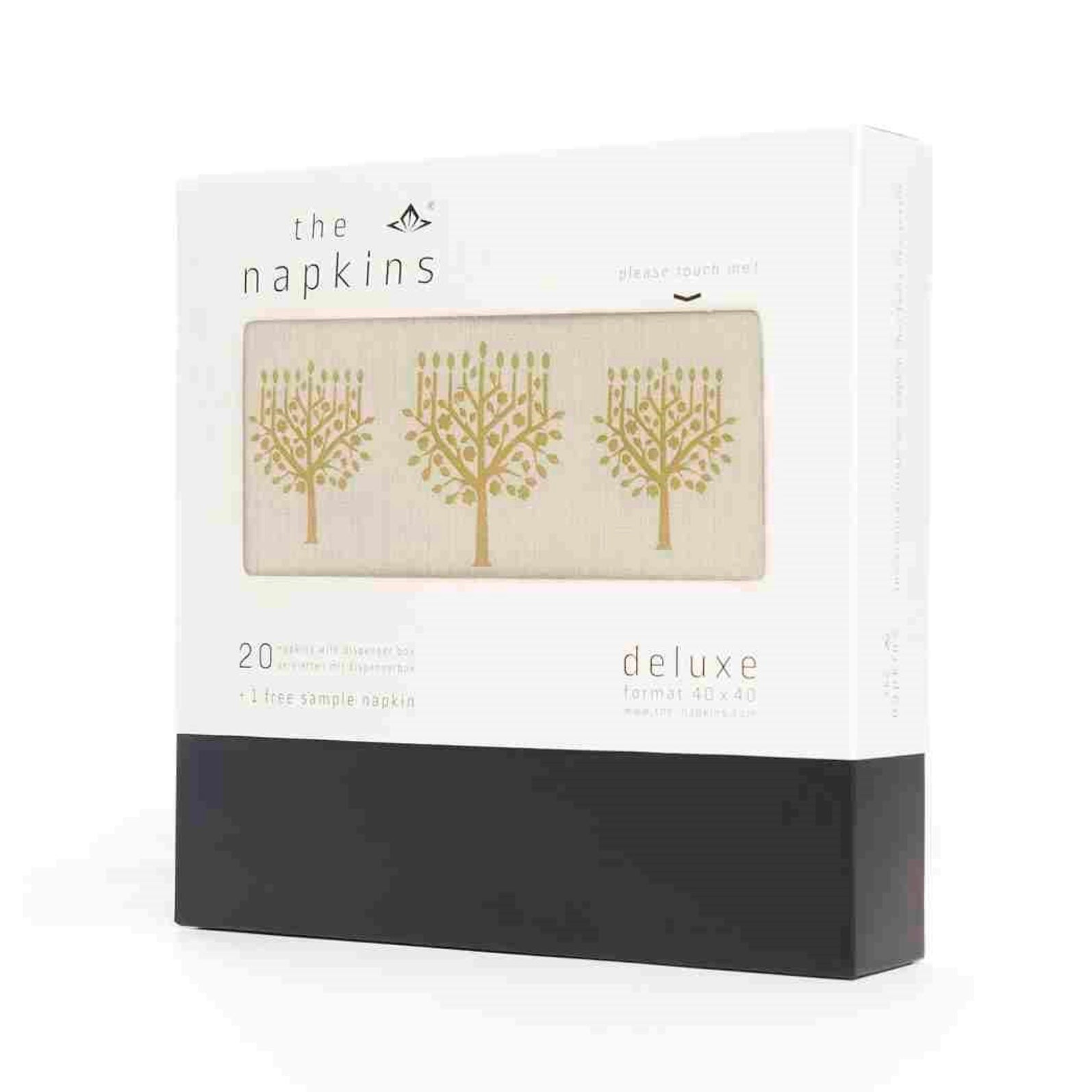 "The Napkins ""Holiday Menorah"" Gold & White - Dinner 