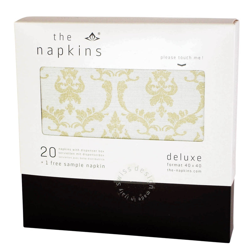 "The Napkins ""Noblesse"" Gold & White Dinner 
