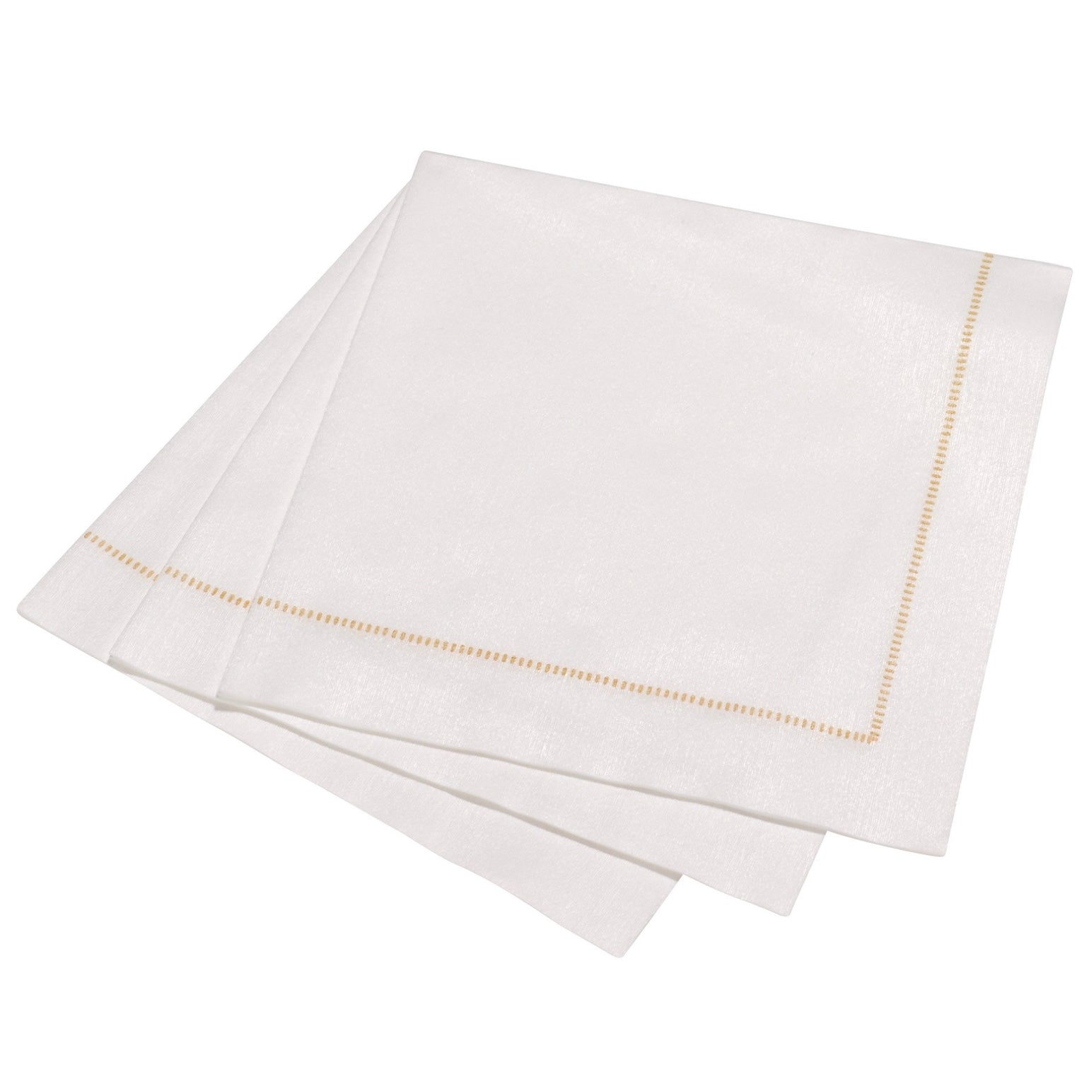 "The Napkins ""Hemstitch"" Cocktail White Gold 