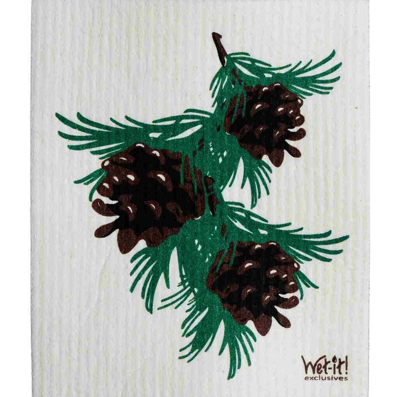 Wet it! Pine Cones Swedish Cloth | Putti Fine Furnishings Toronto Canada