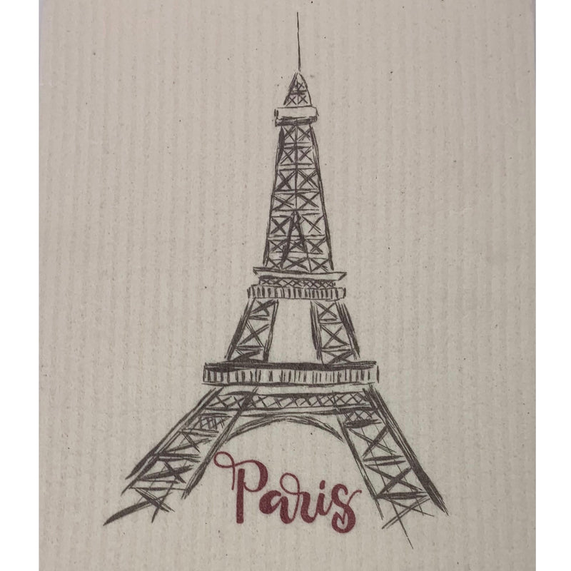 Wet it! Eiffel Tower Swedish Cloth | Putti Fine Furnishings Canada