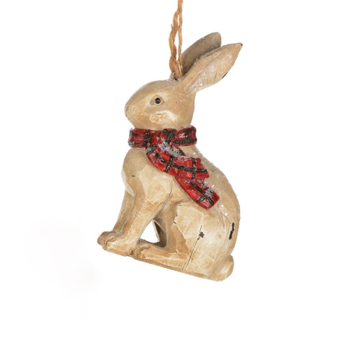 Winter Plaid Rabbit Ornament | Putti Christmas Celebrations Canada