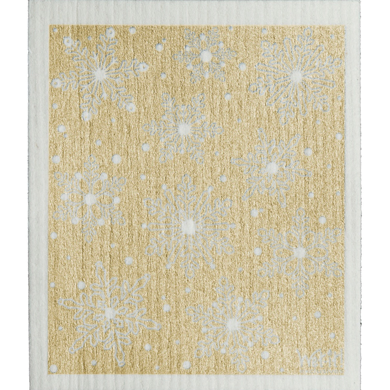 Wet it! Winter Day Metallic Gold Swedish Cloth | Putti Fine Furnishings
