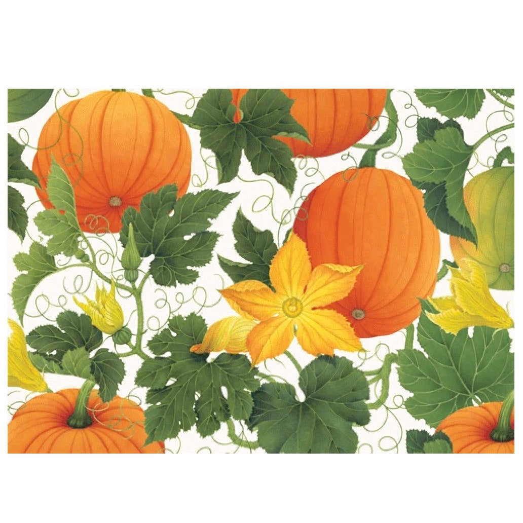 Pumpkins on the Vine Greeting Card | Putti Thanksgiving Celebrations