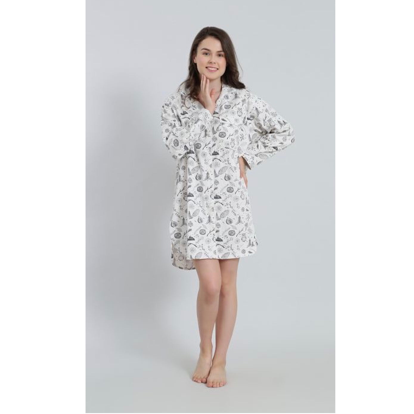 "Mahogany ""Winter Forest"" Flannel Nightshirt 