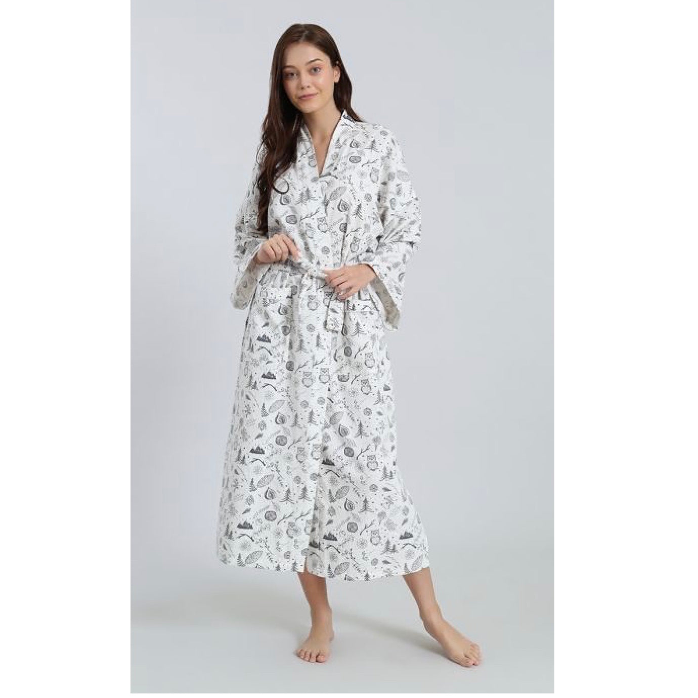 "Mahogany ""Winter Forest"" Flannel Robe 