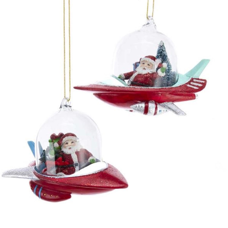 Kurt Adler Mid Century Santa in Spaceship Ornament | Putti Christmas