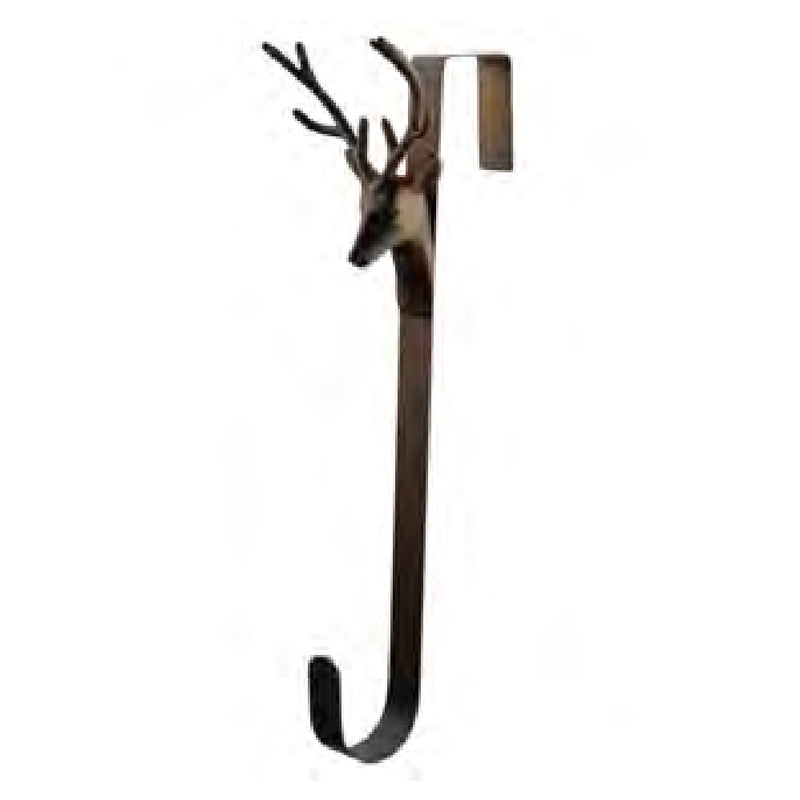 Bronze Deer Head Wreath Hanger | Putti Christmas Canada