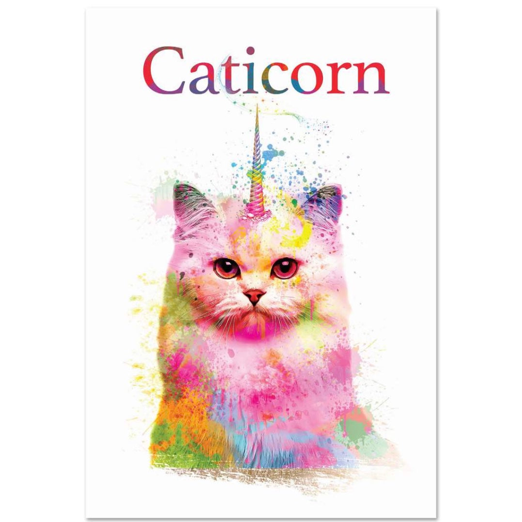 Nobleworks Caticorn Birthday Greeting Card  | Putti Celebrations