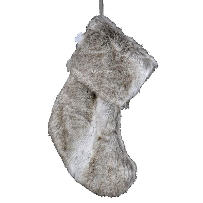 Natural Faux Fur Stocking | Putti Christmas Canada