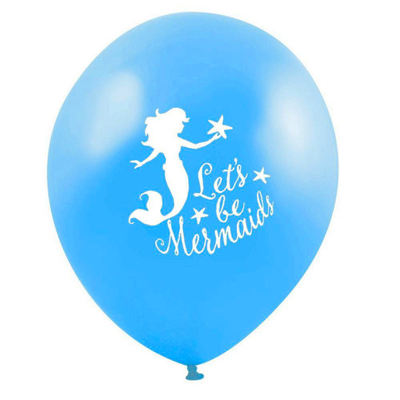 """Let's be Mermaids"" Balloon - Cyan Blue, VA-Vintage AngelVA-Vintage Angel, Putti Fine Furnishings"