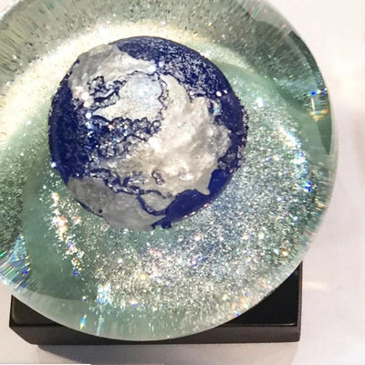 CoolSnowGlobes | Blue Earth Cool Snow Globe | Putti Celebrations Canada
