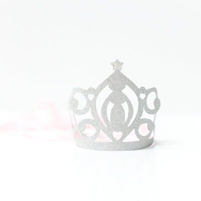 """Princess Perfection"" Silver Glitter Tiaras, GR-Ginger Ray UK, Putti Fine Furnishings"