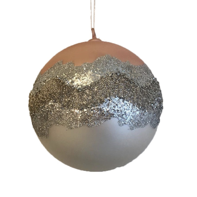 Jim Marvin Mercury Coral Ball Ornament, JM-Jim Marvin, Putti Fine Furnishings