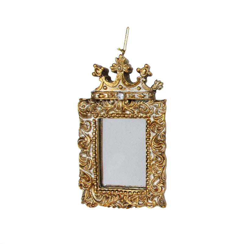 Gold Picture Frame with Crown Hanging Ornament - Rectangular | Putti
