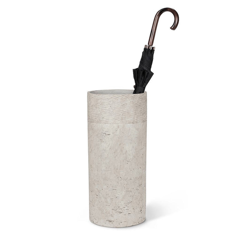Classic Grey Cement Umbrella Stand | Putti Fine Furnishings Canada