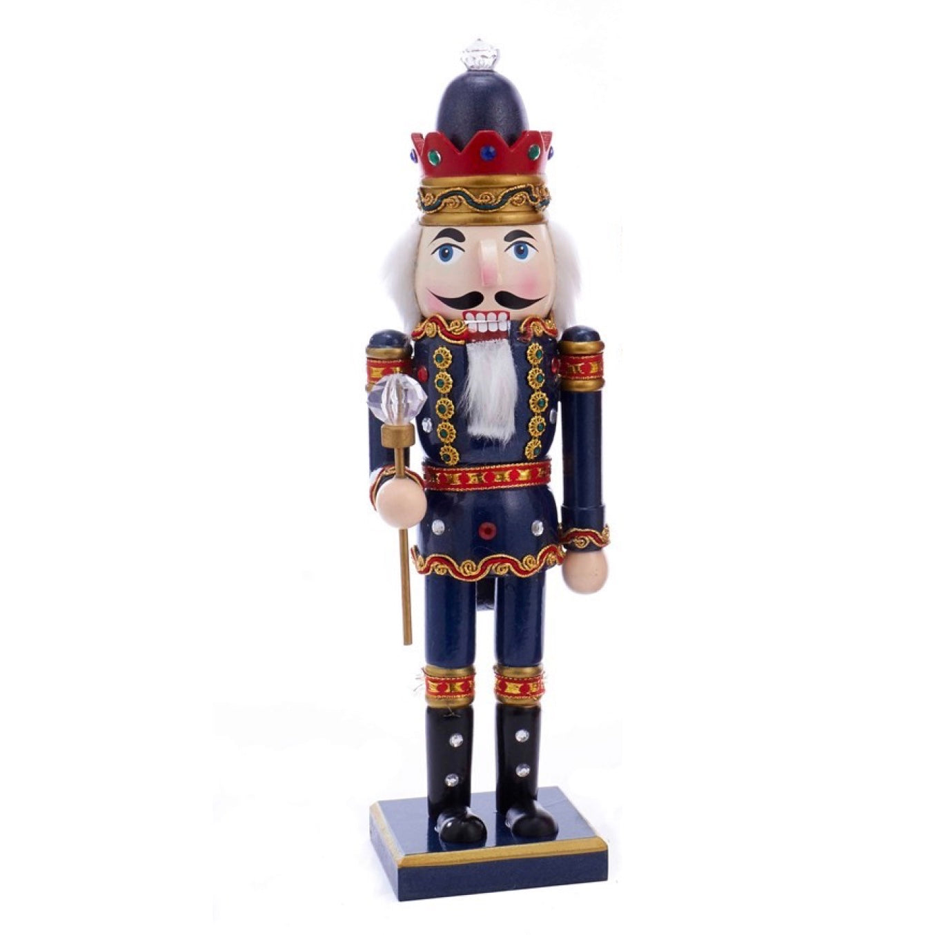 Wooden King Nutcracker - Blue | Putti Christmas Decorations