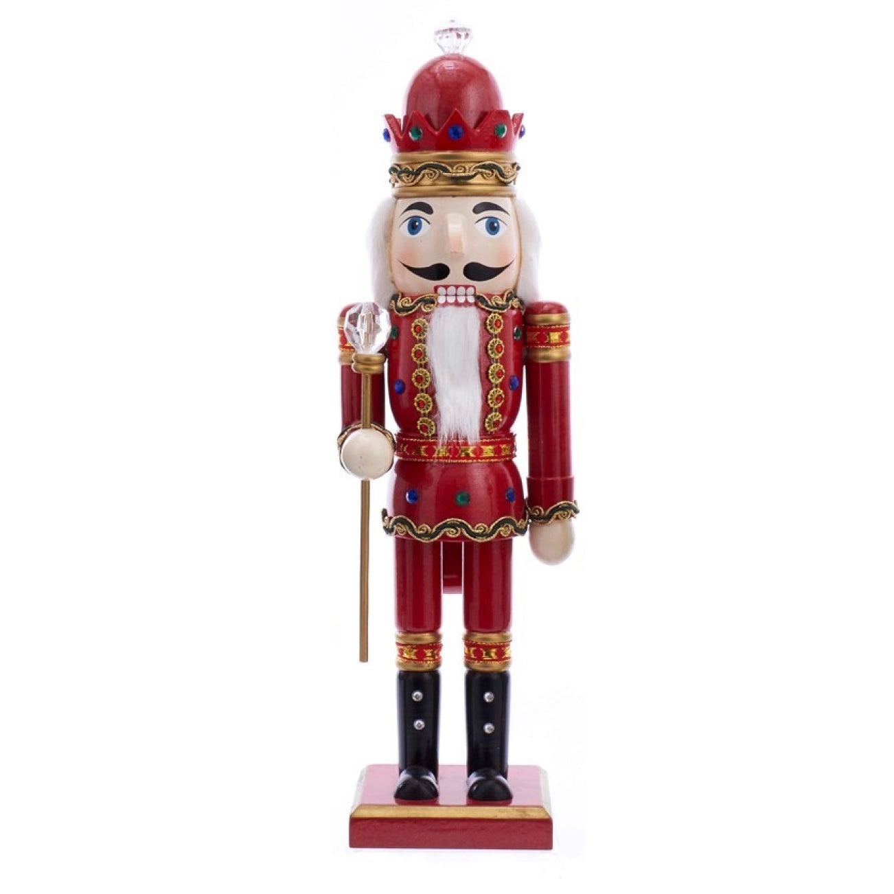 Wooden King Nutcracker - Red | Putti Christmas Decorations