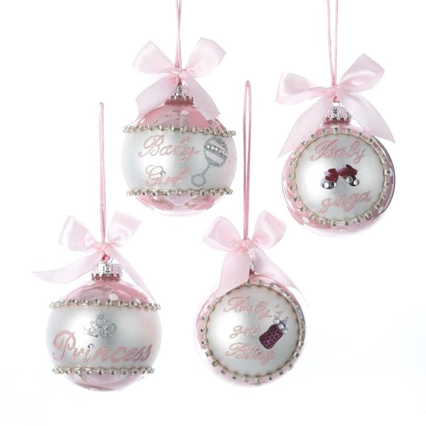 Kurt Adler Baby Bling Glass Ball Ornaments