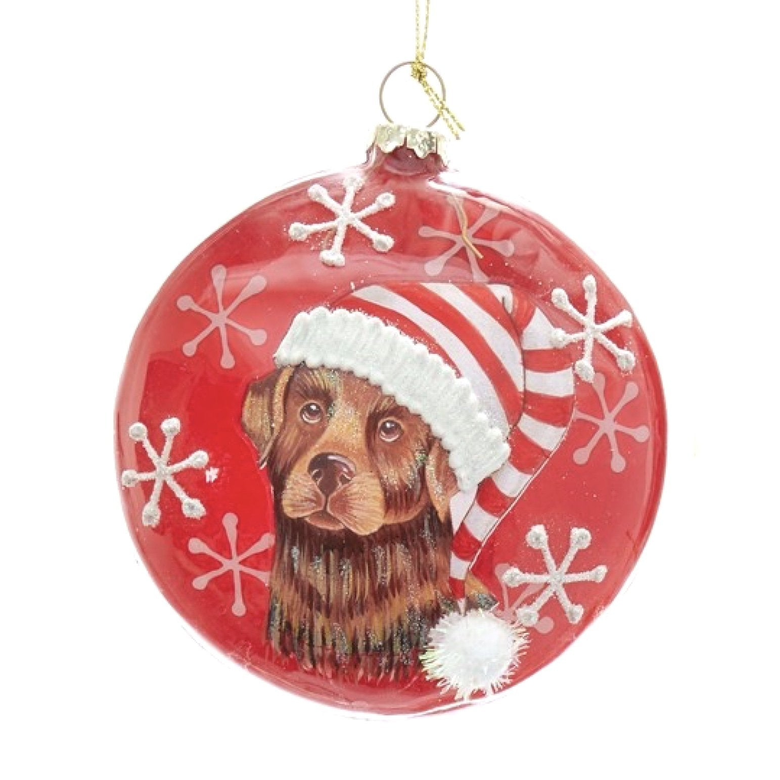 Kurt Adler Labrador Retriever Disc Ornament | Putti Christmas Decorations