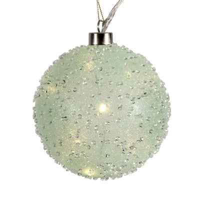 Mint Crystal LED Large Glass Ball ornament | Putti Christmas Decorations